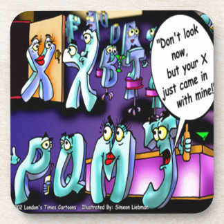 Funny Divorce My Ex & Yours Drink Coaster