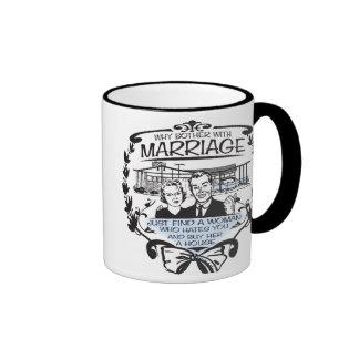 Funny Divorce Ringer Mug