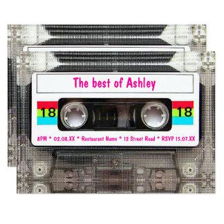 Funny DJ 80s Cassette Tape 18th Birthday Card