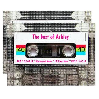 Cassette Tape Invitations is nice invitation ideas
