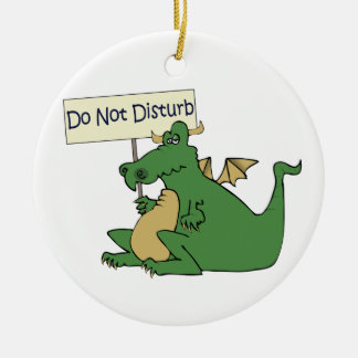 Funny Do Not Disturb Door Hanger Round Ceramic Decoration