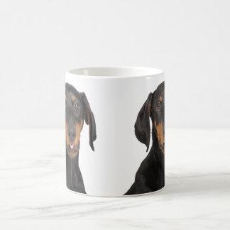 Funny doberman pincher puppy coffee mug