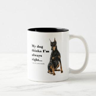 Funny Doberman v Wife Mug