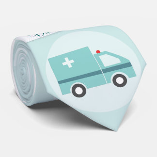 Funny Doctor Medical Physician Monogram Tie