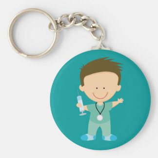 Funny Doctor or Intern Gift Basic Round Button Key Ring