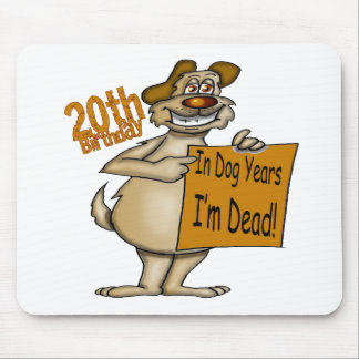 Funny Dog 20th Birthday Gifts Mouse Pad