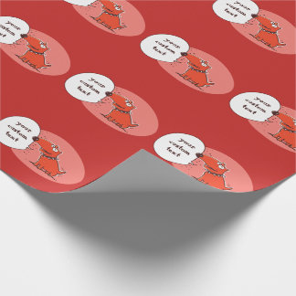 funny dog blank speech bubble cartoon wrapping paper