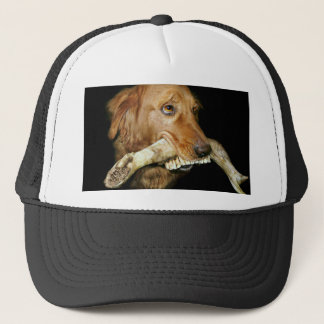 Funny Dog Carrying Horse's Teeth Trucker Hat