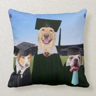 Funny Dog Graduation Pillow