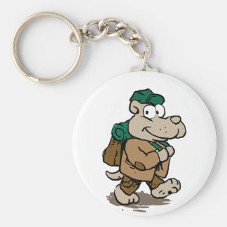 Funny dog hiker key ring