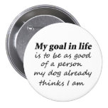 Funny dog humour birthday gift idea gifts buttons