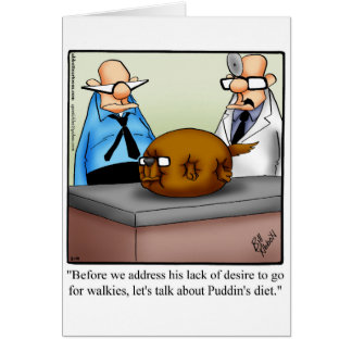 Funny Dog Humour Blank Greeting Card Spectickles