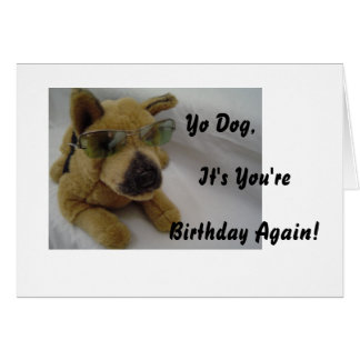 Funny Dog In Sunglassses Card