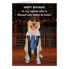 Funny Dog/Lab Birthday for Nephew Card