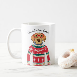 Funny Dog Lover Dog Wearing Ugly Christmas Sweater Coffee Mug