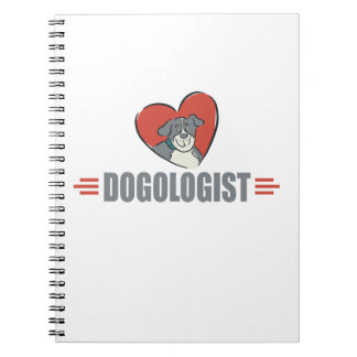 Funny Dog Lovers and Heart Notebook