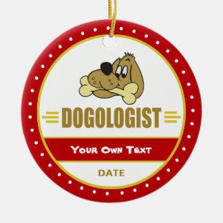 Funny Dog Lovers Ceramic Ornament