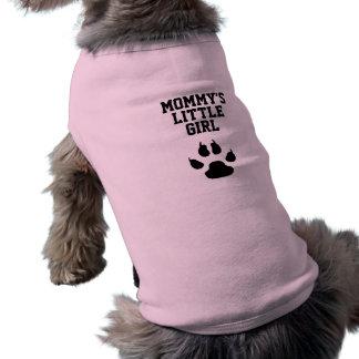 Funny Dog Mummy's Little Girl Sleeveless Dog Shirt