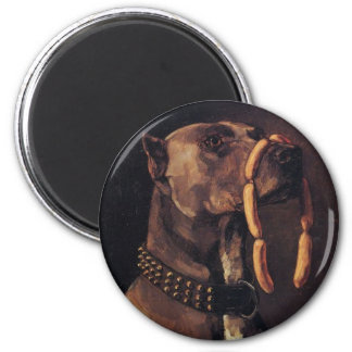Funny Dog painting Magnet