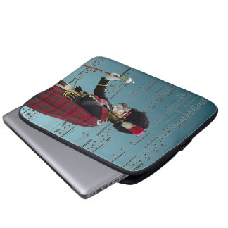 Funny dog pipe major laptop computer sleeve