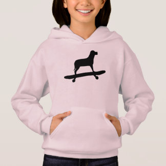 Funny Dog Skateboard Hoodie for Girls