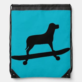 Funny Dog Skateboarding - Kids Backpack