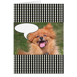 Funny dog speech bubble card