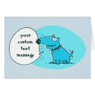 funny dog sweet puppy says something to us card