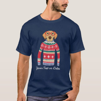 Funny Dog Wearing Glasses, Ugly Christmas Sweater