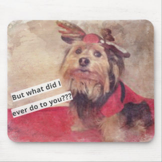 Funny dog What I do? Mouse Pad