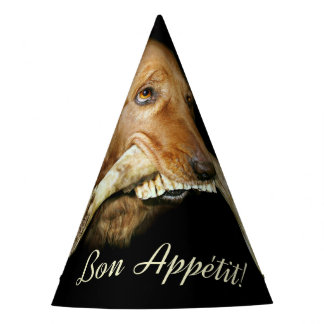 Funny Dog with Horse Teeth Bone Party Hat