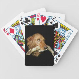 Funny Dog with Horse's Teeth Bone Bicycle Playing Cards
