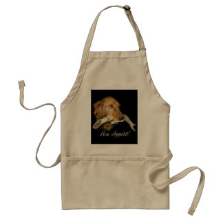 Funny Dog with Horse's Teeth Bone Standard Apron