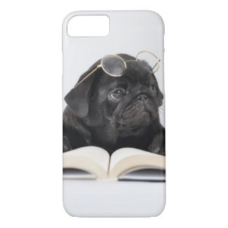Funny Dog with Reading Glasses iPhone 7 Case