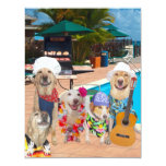 Funny Dogs Customisable Pool Party/BBQ Invitation 11 Cm X 14 Cm Invitation Card