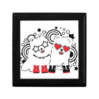 Funny dogs. Cute animal festive cool design Gift Box