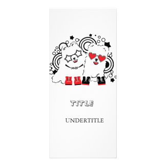 Funny dogs. Cute animal festive cool design Rack Card