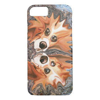Funny Dogs in Wind Storm Abstract Art iPhone 7 Case