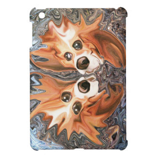 Funny Dogs in Wind Storm iPad Mini Cover