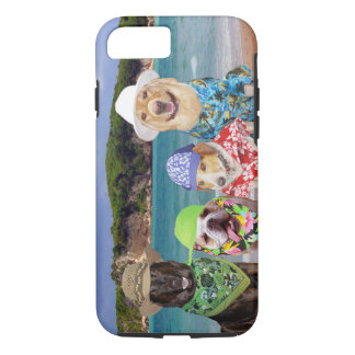 Funny Dogs/Lab on the Beach iPhone 7 Case