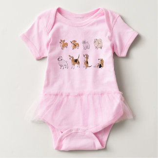 Funny Dogs// Little Crazy Dog Lady Baby Bodysuit