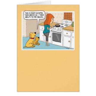Funny Dogs Love Bacon Birthday Card