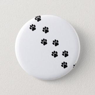 Funny dog's paw  print 6 cm round badge