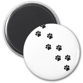 Funny dog's paw  print magnet