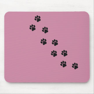 Funny dog's paw  print mouse pad