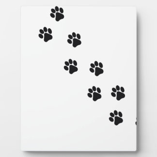 Funny dog's paw  print photo plaque