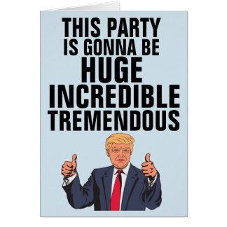 Funny Donald Trump Birthday Cards, BIG LEAGUE Card