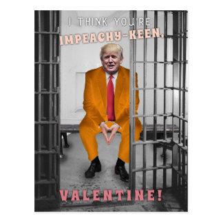 Funny Donald Trump Impeachment Valentine's Day Postcard
