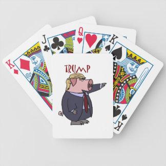 Funny Donald Trump Pig Political Cartoon Poker Deck