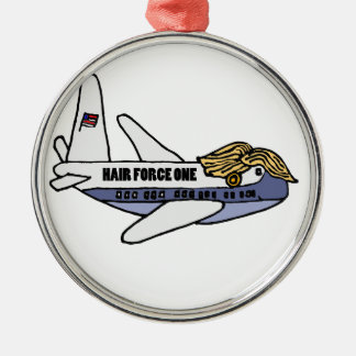 Funny Donald Trump Presidential Airplane Metal Ornament